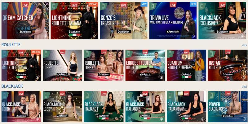 Casino live Eurobet